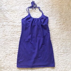 Bra Tops Purple Cotton Halter Dress
